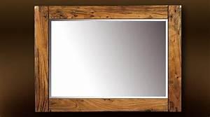 Miroir Cadre Bois : miroir cadre en bois id es de d coration int rieure french decor ~ Teatrodelosmanantiales.com Idées de Décoration