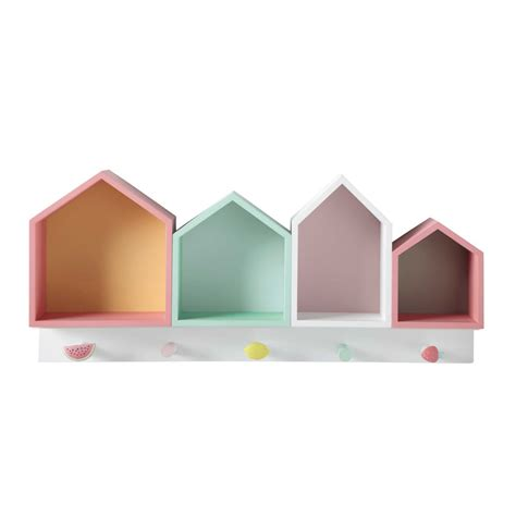 maison du monde patere pat 232 re 4 maisons multicolores berlingot maisons du monde