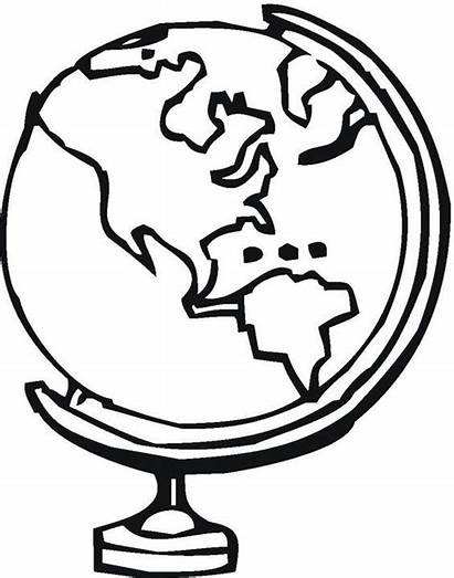 Globe Coloring Pages Printable Legend Clipart Medio