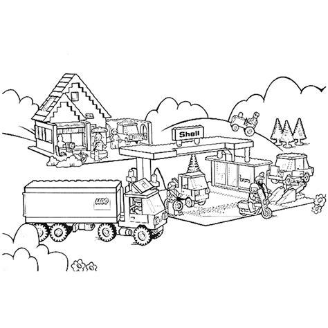 Kleurplaat Tankstation by Leuk Voor Lego City Tankstation