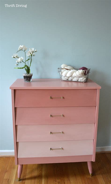 pink mod ombre dresser thrift diving blog