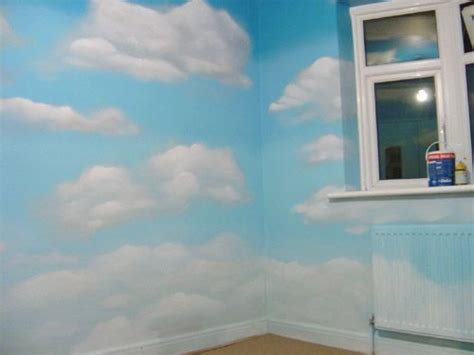 cloud wall mural perfect  kids bedroom  include