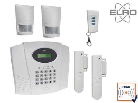 Funk Alarmanlage Komplettsystem Mit Telefonw 228 Hlger 228 T Elro Haussicherheitstechnik Ebay