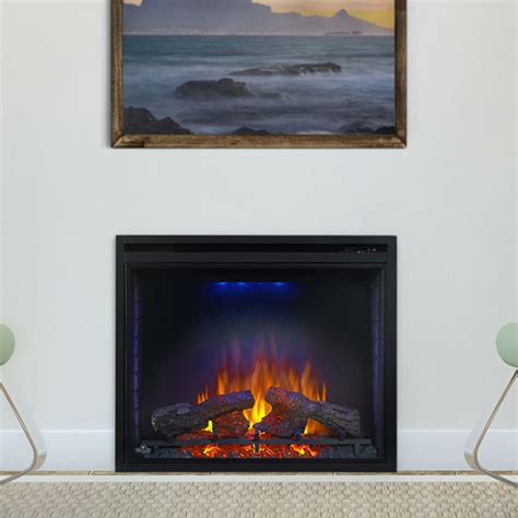 built in electric fireplace napoleon ascent 33 in built in electric fireplace bef33h