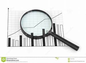 Magnifying Glass And Diagram Stock Photo