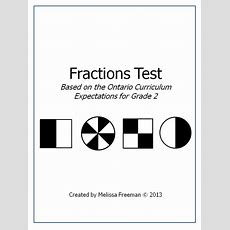Grade 2 Fractions Test (ontario Curriculum)  Ontario Curriculum, Math Test And Curriculum