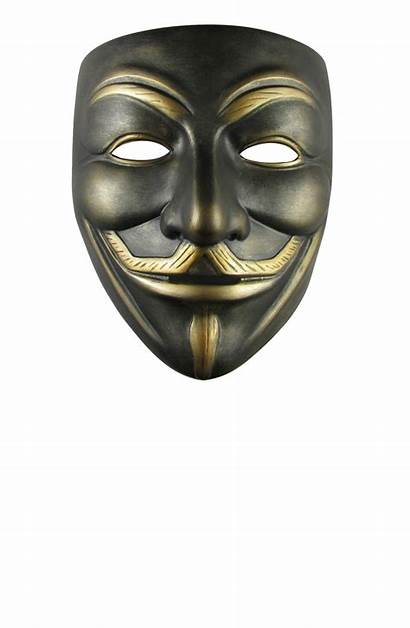 Mask Anonymous Gold Transparent Dark Hacker Fawkes