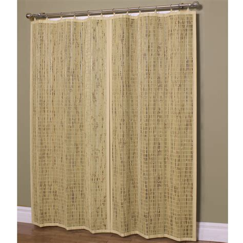 bamboo wall panels with bamboo ring top curtain