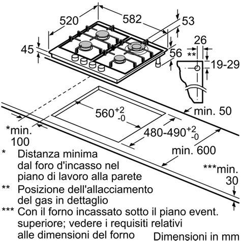 piano cottura 60 cm 5 fuochi bosch pch6a5b90 piano cottura a gas 60 cm 4 fuochi colore