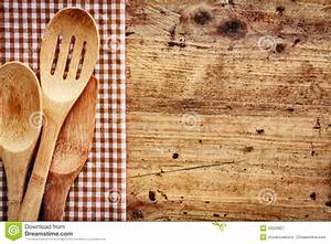 Wood Background With Kitchen Utensils Royalty Free Stock