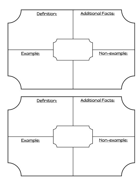 vocabulary template middle school math madness my vocabulary template