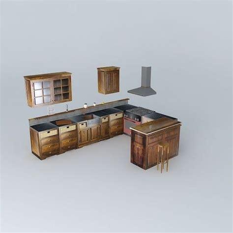 cuisine luberon maison du monde kitchen maisons du monde u luberon 3d model max obj 3ds