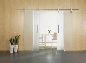 Porte Verre Suspendu : porte coulissante interieur en verre le bois chez vous ~ Teatrodelosmanantiales.com Idées de Décoration