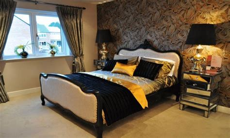 Bedroom Decorating Ideas Brown And Gold by Black And Gold Bedroom Ideas Black Brown Gold Orange