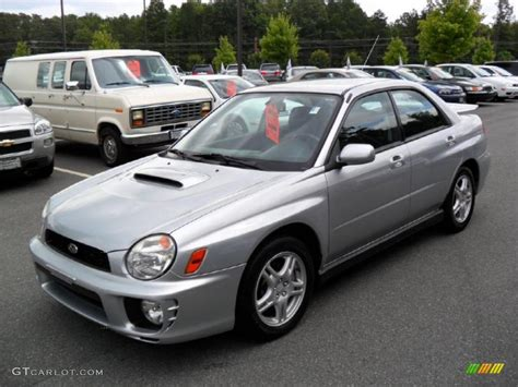 wrx subaru silver 2002 platinum silver metallic subaru impreza wrx sedan