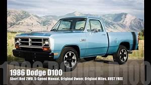 1986 Dodge D100  Short Bed  5 Speed Manual  Strong V8