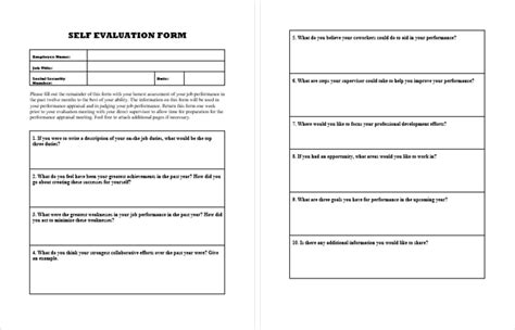 how to answer a self evaluation form self evaluation form sles evaluate your self