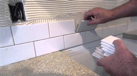how to install ceramic tile backsplash in kitchen how to install a simple subway tile kitchen backsplash