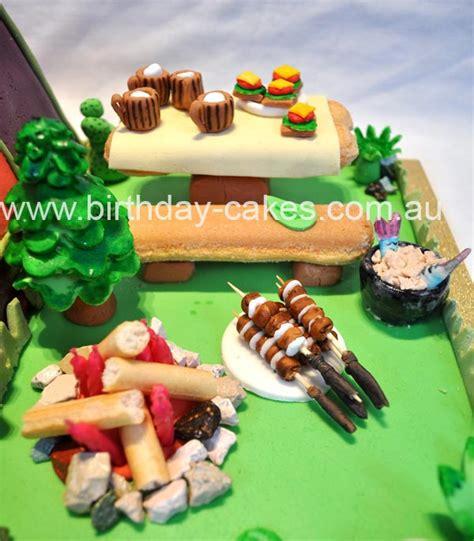 sexy camping cake