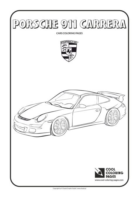 cool coloring pages porsche  carrera coloring page