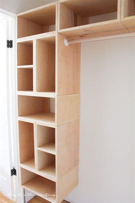 Wood Closet Systems Diy by Diy Custom Closet Organizer The Brilliant Box System