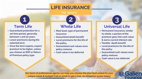life insurance permanent  term universal