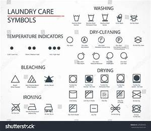 Washing Laundry Icons Set Flat Design Stock Vector