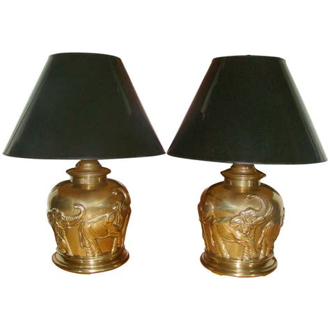 frederick cooper l shades pair of frederick cooper brass elephant table ls at 1stdibs