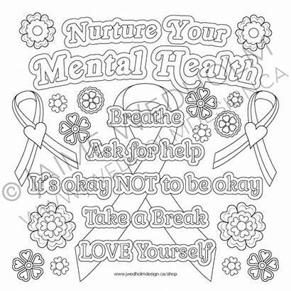Mental Health Colouring Nurture