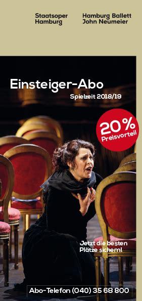Für Sie Abo Service Hamburg by Staatsoper Hamburg Abonnement