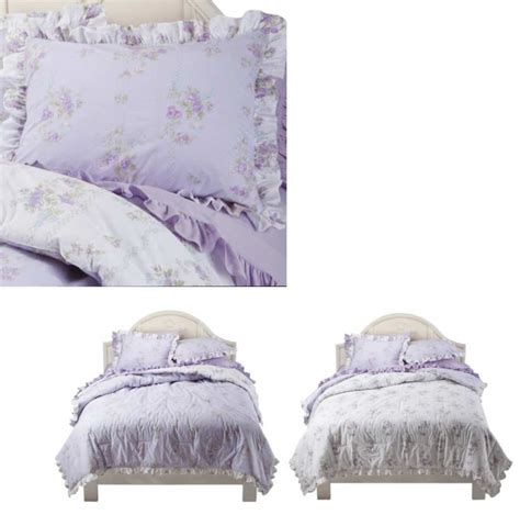 simply shabby chic lavender blanket simply shabby chic king comforter set ashwell tiara lilac cottage rose lavender ebay