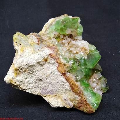 Quartz Mineral Specimen Orange Africa Fluorite South