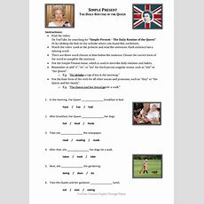 Movie Worksheet Daily Routine Of The Queen (simple Present