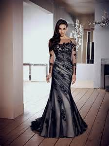 black sleeve wedding dresses black wedding dresses with lace sleeves naf dresses