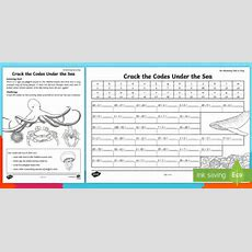 Crack The Code Under The Sea Worksheet  Activity Sheet  Amazing Fact Of The