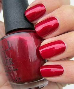 OPI In My Santa Suit Beautiful Irridescent Red In The