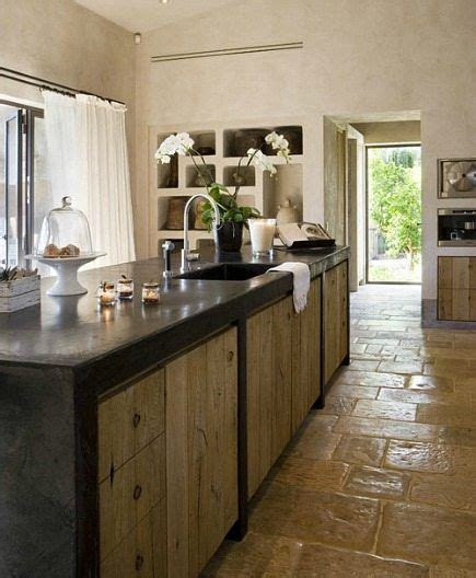 concrete cabinets kitchen concrete top rustic wood cabinets rustic floor