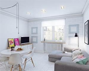 Amenajare in stil scandinav modern a unui apartament de 25 for Interior decoration and designing iti