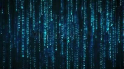 Matrix Binary Code Falling Rain Background Data