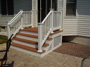 Outdoor Steps On Porch With Railing Backyard Nj Carl U0026 39 S