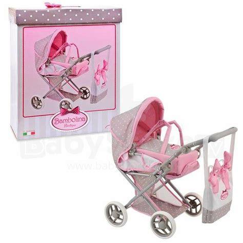 Bambolina Boutique Art.BD1608 leļļu ratiņi ar somu ...
