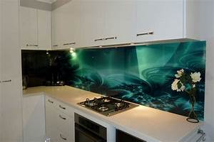 solid glass kitchen backsplash production and installation With what kind of paint to use on kitchen cabinets for get stickers printed