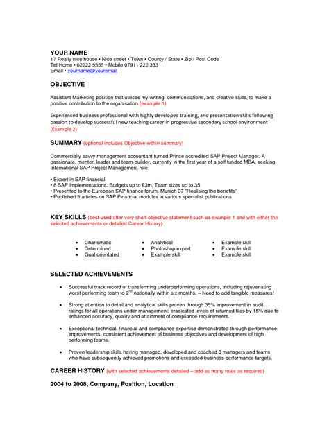 Career Resume Template by Resume For Change Resume Tips For Career Changers
