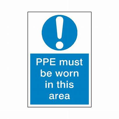 Ppe Worn Must Sticker Sign Mandatory Safety