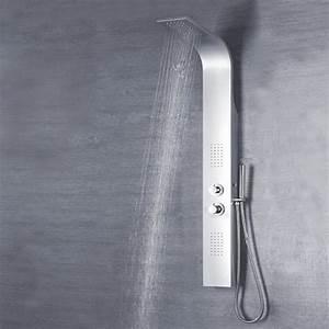 Colonne De Douche Hydromassante Thermostatique : colonne de douche hydromassante couleur aluminium pas cher ~ Edinachiropracticcenter.com Idées de Décoration