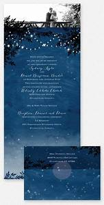 starry night wedding invitation and wishing well card With seal and send wedding invitations vistaprint