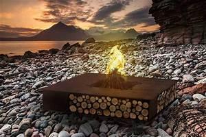 Cheminée Barbecue Exterieur : bras ro ext rieur et chemin e de jardin moderne par ak24 design ~ Preciouscoupons.com Idées de Décoration