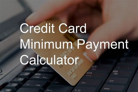 Maybe you would like to learn more about one of these? Minimum monthly credit card payment calculator - KUDOSpayments.Com