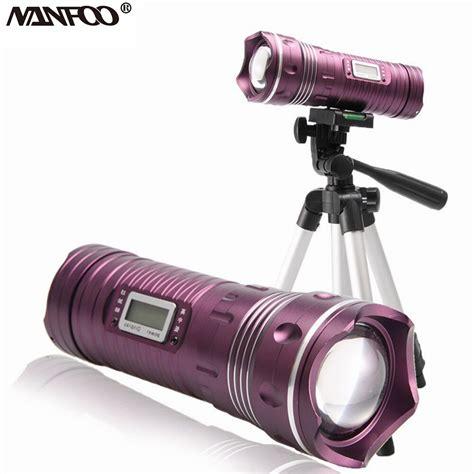 cree 10w led white blue dual light fishing flashlight rechargeable 6modes zoom led