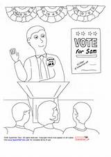Election Coloring Pages Getcoloringpages Voting Printable Debate Getdrawings Getcolorings Children Colorin sketch template